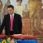 Antonio Pérez (Ciudadanos) promete el cargo.