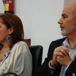 Sonia Jiménez y Antonio Moreno, momentos previos a la votación.