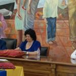 Pilar Delgado (PP) y Ezequiel Carnero (Ahora Rincón) conforman la mesa.