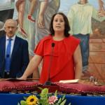 Anaya prometiendo su cargo como alcaldesa.