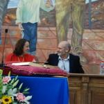 Anaya y Moreno presidiendo la mesa.