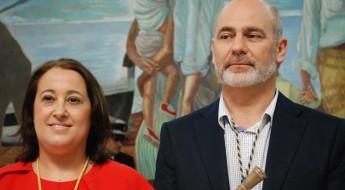 Anaya (PSOE) y Moreno (Ahora Rincón).