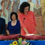 Josefa Carnero (PP) jura el cargo.
