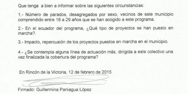 """Impacto, repercusión y proyectos puestos en marcha en el municipio con el programa """"EMPLE@JOVEN"""" (12-02-2015)"""