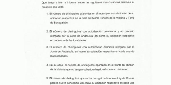 Permisos para la nueva concesión de licencias de chiringuitos (06-04-2015)