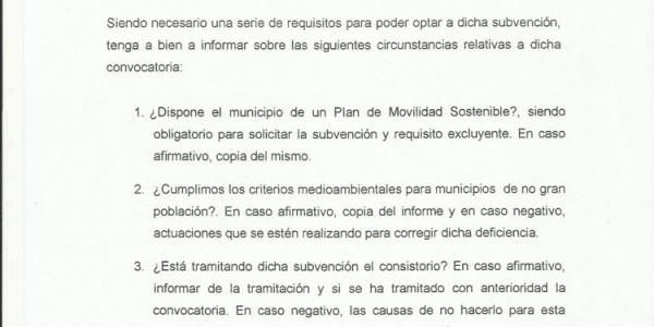 Cumplimiento de requisitos para acceder a subvención al transporte colectivo urbano (05-05-2015)