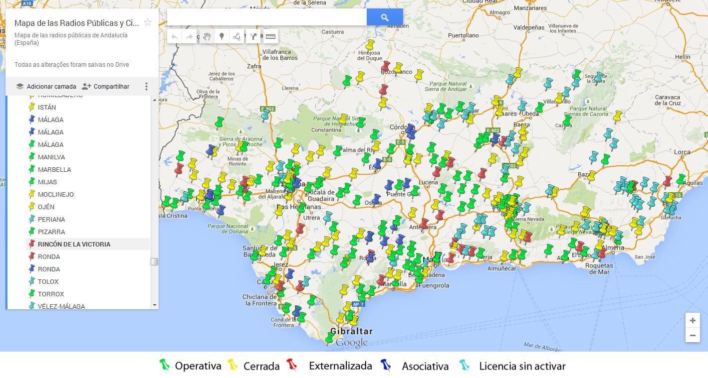 Arrinconados Mapa Radios