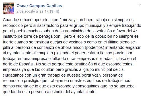 Arrinconados Campos Cargos