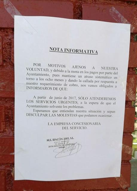 Arrinconados Impago Cementerio